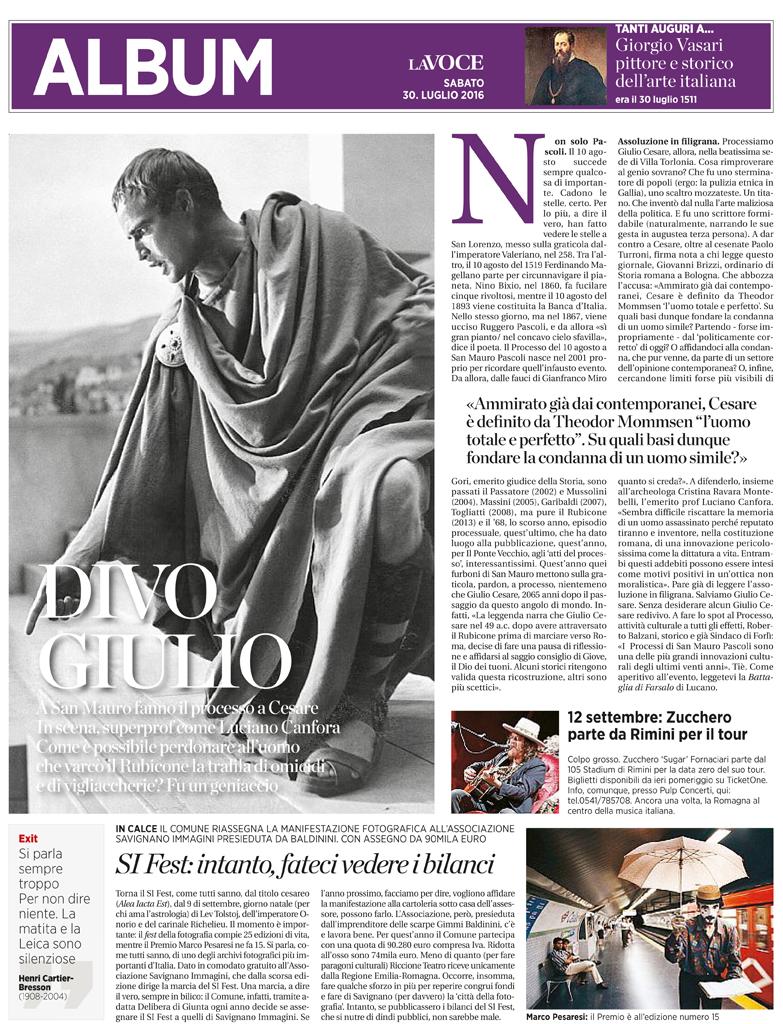 La Voce di Romagna, 30-07-16 Processo a Cesare