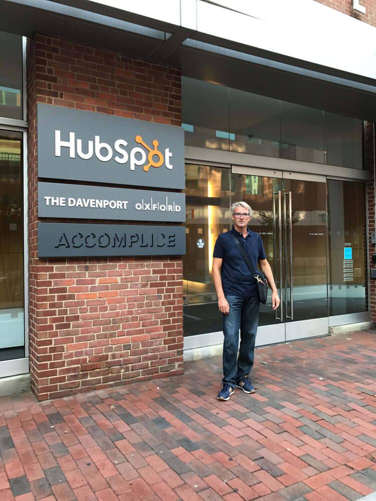 Massimiliano Montebelli alla sede di Hobspot (Boston 2017)