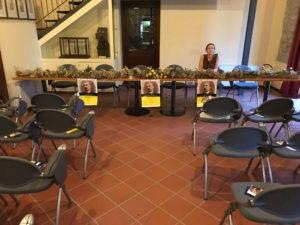 Preparazione dell'inaugurazione della Mostra di Pietro Pirazzoli, Museo Sulphur 3-08-17