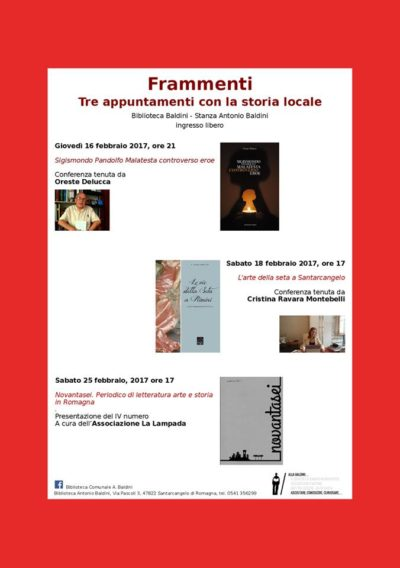 """Conferenza """"L'arte della seta a Santarcangelo"""""""