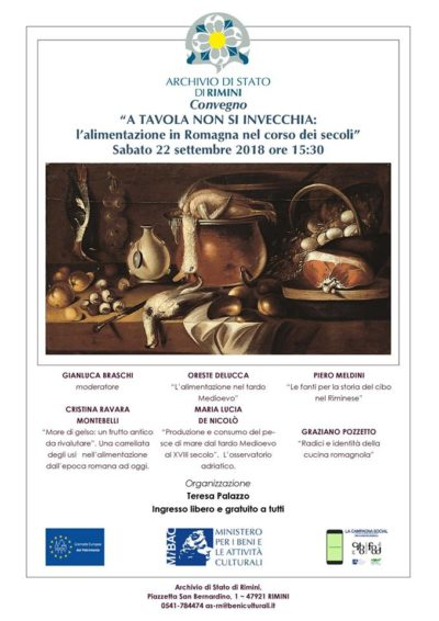 Convegno A tavola non si invecchia, Archivio di Stato Rimini