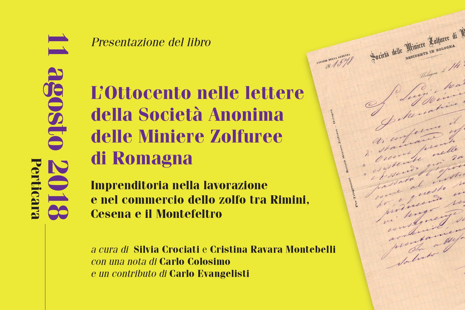Presentazione libro miniere sulfuree Rimini, Cesena e il Montefeltro