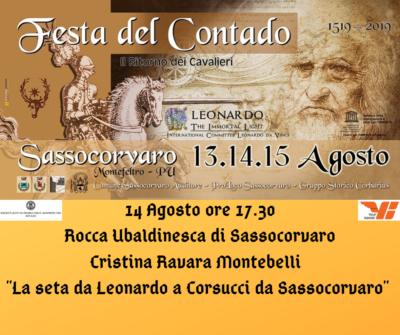 """Cristina Ravara Montebelli """"La seta da Leonardo a Corsucci da Sassocorvaro"""""""