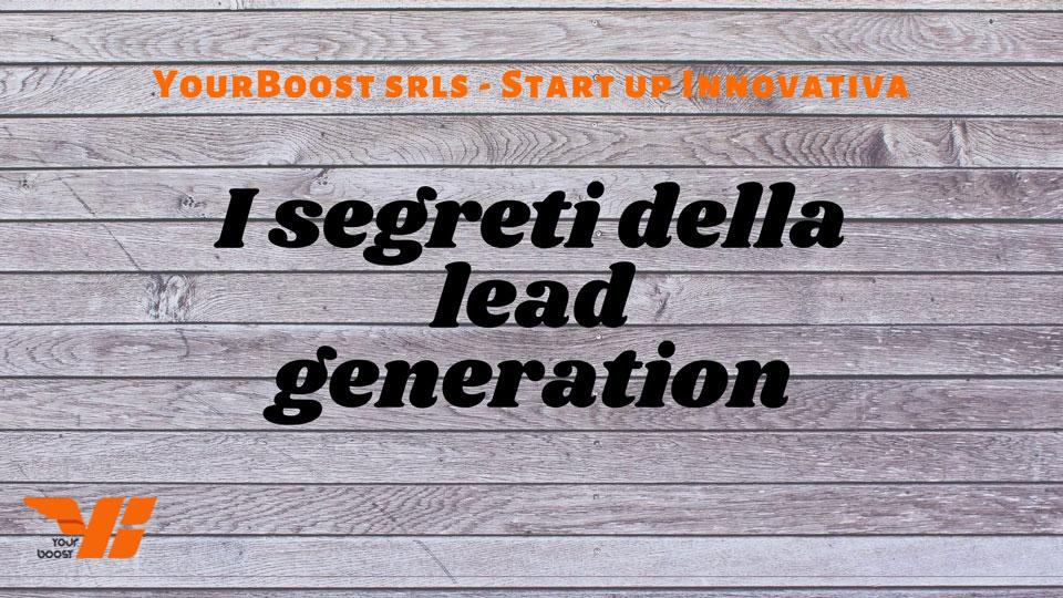 lead genetation, i segreti