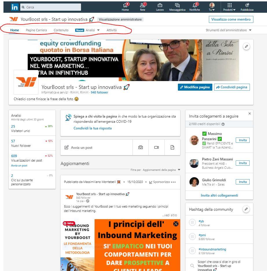 Pagina Aziendale su LinkedIn