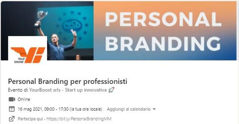 Personal Branding webinar Massimiliano Montebelli