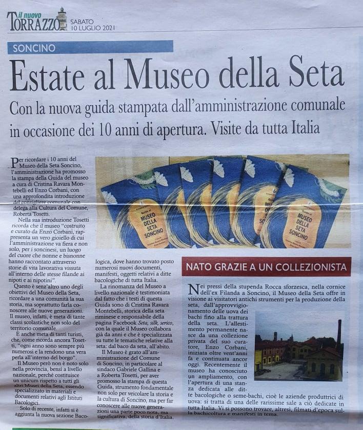 Il nuovo Torrazzo, 10 luglio 2021 Cristina Ravara Montebelli, Guida del Museo della seta Soncino
